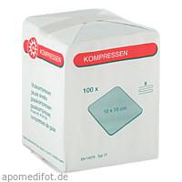 MULLKOMPRESSE 10X10CM 8FACH, 100 ST, Nobamed Paul Danz AG