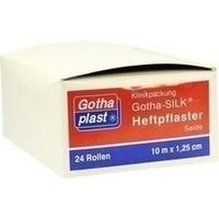 GOTHA SILK HEFTPFLASTER 10MX1.25CM SEIDE AUF KERN, 24 ST, Gothaplast GmbH
