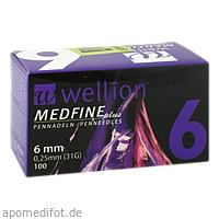 Wellion MEDFINE plus Pennadeln 6mm, 100 ST, Med Trust GmbH