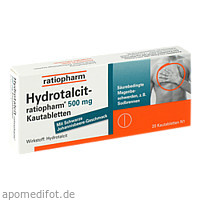 Hydrotalcit-ratiopharm 500mg Kautabletten, 20 ST, ratiopharm GmbH