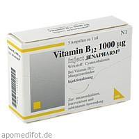 VITAMIN B12 1000UG INJECT JENAPHARM, 5 ST, Mibe GmbH Arzneimittel