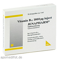 Vitamin B12 1000ug inject JENAPHARM, 10X1 ML, Mibe GmbH Arzneimittel