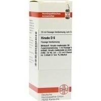 HIRUDO D 6, 20 ML, Dhu-Arzneimittel GmbH & Co. KG