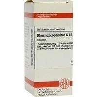 RHUS TOXICODENDRON C15, 80 ST, Dhu-Arzneimittel GmbH & Co. KG
