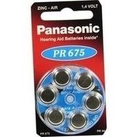 Batterie f. Hörgeräte Panasonic PR 675, 6 ST, Vielstedter Elektronik