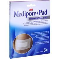 Medipore + Pad 3M 10.0 cm x 10.0 cm, 5 ST, 3M Medica Zwnl.d.3M Deutschl. GmbH