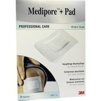 Medipore + Pad 3M 10.0 cm x 15.0 cm, 5 ST, 3M Medica Zwnl.d.3M Deutschl. GmbH
