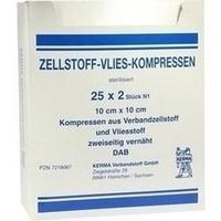 ZELLSTOFF VLIES 10X10 STERIL, 25X2 ST, Kerma Verbandstoff GmbH