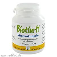 BIOTIN H VITAMINKAPSELN, 120 ST, Pharma Peter GmbH