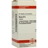 BORAX D 5, 80 ST, Dhu-Arzneimittel GmbH & Co. KG