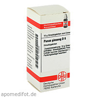 PANAX GINSENG D 6, 10 G, Dhu-Arzneimittel GmbH & Co. KG