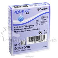 AQUACEL HYDROsorption 5x5 cm steril Kompressen, 10 ST, Convatec (Germany) GmbH