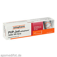 PVP-Jod-ratiopharm Salbe, 25 G, ratiopharm GmbH