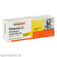 Vitamin C-ratiopharm retard 500 mg, 100 ST, ratiopharm GmbH