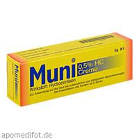 Muni 0.5% HC Creme, 5 G, Robugen GmbH Pharmazeutische Fabrik
