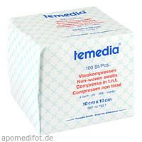 VLIESKOMPRESSE UNSTERIL 4FACH 10X10CM, 100 ST, Holthaus Medical GmbH & Co. KG