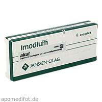 IMODIUM AKUT Hartkapseln, 6 ST, kohlpharma GmbH