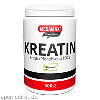 Kreatin Monohydrat 100% MEGAMAX, 500 G, Megamax B.V.