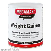 WEIGHT GAINER VANILLE MEGAMAX, 1500 G, Megamax B.V.