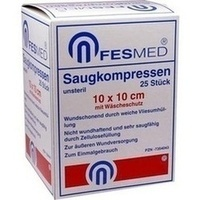 Saugkompresse 10x10cm unsteril, 25 ST, Fesmed Verbandmittel GmbH