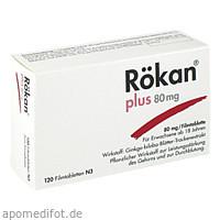 Rökan Plus 80mg, 120 ST, Dr.Willmar Schwabe GmbH & Co. KG