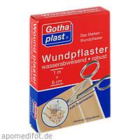 Gothaplast Wundpflaster wasserabw.robust 1mx6cm, 1 ST, Gothaplast GmbH