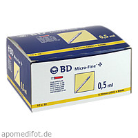 BD Micro-Fine+ U40 Ins.Spr.8mm, 100X0.5 ML, Becton Dickinson GmbH