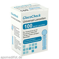 GlucoCheck Lanzetten Universal, 100 ST, Aktivmed GmbH