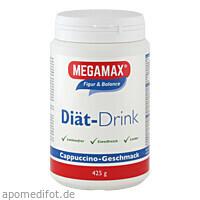MEGAMAX DIÄT DRINK CAPPUCCINO, 425 G, Megamax B.V.