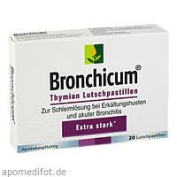 Bronchicum Thymian Lutschpastillen, 20 ST, MCM KLOSTERFRAU Vertr. GmbH