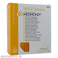 Medihoney Apinate med. Honig-Alginatverband 5x5cm, 10 ST, Apofit Arzneimittelvertrieb GmbH