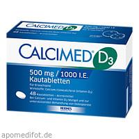 Calcimed D3 500mg/1000 I.E., 48 ST, Hermes Arzneimittel GmbH