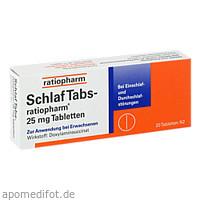 Schlaf Tabs-ratiopharm 25mg Tabletten, 20 ST, ratiopharm GmbH