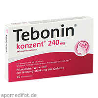 Tebonin Konzent 240mg Filmtabletten, 30 ST, Dr.Willmar Schwabe GmbH & Co. KG