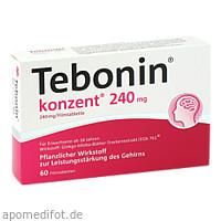 Tebonin Konzent 240mg Filmtabletten, 60 ST, Dr.Willmar Schwabe GmbH & Co. KG