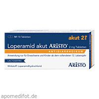 Loperamid akut Aristo 2mg Tabletten, 10 ST, Aristo Pharma GmbH