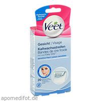 Veet Kaltwachsstreifen Gesicht, 20 ST, Reckitt Benckiser Deutschland GmbH