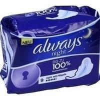 Always Ultra Night, 9 ST, Wick Pharma / Procter & Gamble GmbH
