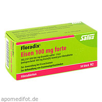 Floradix Eisen 100mg forte, 50 ST, Salus Pharma GmbH