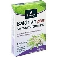 Kneipp Baldrian plus Nervenvitamine, 40 ST, Kneipp GmbH