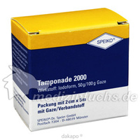 Tamponade 2000 getraenkt 2cmx5m, 1 ST, Speiko Dr.Speier GmbH
