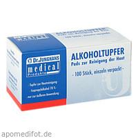 Alkoholtupfer 3x6cm steril, 100 ST, Dr. Junghans Medical GmbH