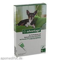 ADVANTAGE 40 Lösung f.Hunde bis 4 kg, 4 ST, Bayer Vital GmbH GB - Tiergesundheit