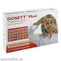 DOSETT Maxi-Arzneikassette rot, 1 ST, Hormosan Pharma GmbH