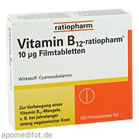 Vitamin-B12-ratiopharm 10ug Filmtabletten, 100 ST, ratiopharm GmbH