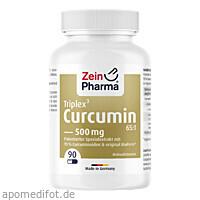 Curcumin Triplex3 500mg pro Kap.95% Curcu.+Bioperi, 90 ST, Zein Pharma - Germany GmbH