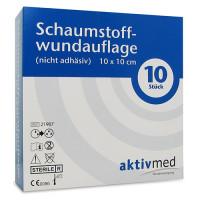 aktivmed Schaumstoffwundaufl.nicht adhäsiv 10x10cm, 10 ST, Aktivmed GmbH