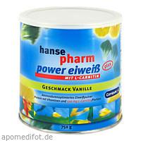 hansepharm Power Eiweiß plus Vanille, 750 G, NUTRICHEM DIÄT + PHARMA GmbH