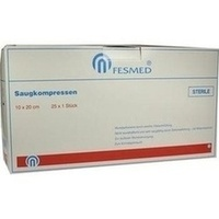 Saugkompresse 10x20cm steril, 25X1 ST, Fesmed Verbandmittel GmbH