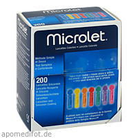 Lanzetten Microlet farbig, 200 ST, 1001 Artikel Medical GmbH